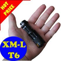 Mini Lámpara Táctica T6 Led 2500lm Con Accesorios Y Zoom