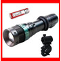 Lampara Tactica Cree Led 1900 Lumens Con Zoom Recargable Hm4