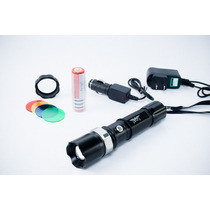 Lampara Táctica Led Batería Recargable Waterproof Flashlight