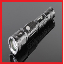 Lampara Tactica 2900 Lumens Cree Led Recargable Zoom Sin Usb