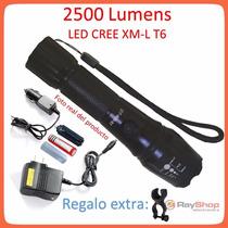 Lampara Tactica 2500 Lumens Cree Led Xlm-t6 Recargable