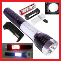 Lampara Tactica Cree Led De 2600 Lumens Multifuncion Y Zoom