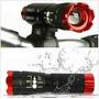 Lampara Para Bicicleta Con Zoom 240lm Cree Roja, Nueva