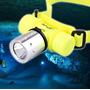 Lámpara Recargable De Cabeza Para Buceo 100% Sumergible