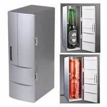Mini Refrigerador / Calentador Usb Espacio Para Dos Latas