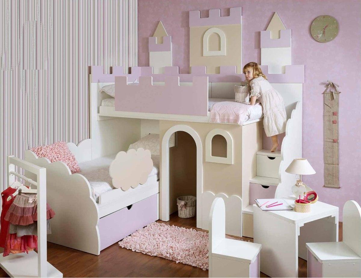 Litera infantil castillo incluye mesa y 2 sillas for Mesa y sillas infantiles