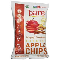 Bare Orgánica Canela Manzana Chips Sin Gluten Al Horno + Bol