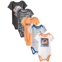 Quiksilver Bebé-niños Recién Nacidos 5 Paquete Body Naranja