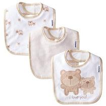 Gerber Unisex-bebé Recién Nacido 3 Pack Terry Dribbler Baber