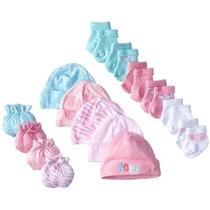 Gerber Baby-girls Recién Nacido Amor 15 Piece Gorras Calceti