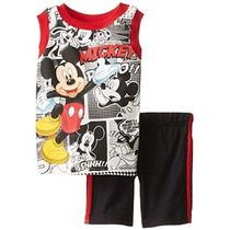 2 Piezas Mickey Mouse Cómic Impreso Jersey Disney Niños Bebé