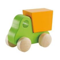 Hape - Pequeño Camión Volquete - Maple Sólido En Verde