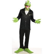El Muppets Kermit The Frog Traje Y Máscara