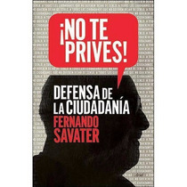 Libro No Te Prives - Fernando Savater