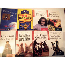 Paquete 8 Libros Ana Frank Divina Comedia Don Quijote