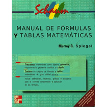 Manual De Formulas Y Tablas Matemáticas Pdf