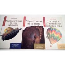 Julio Verne 3 Libros 20 Mil Leguas Viaje Al Centro Tierra