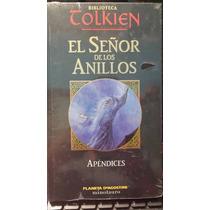 El Señor De Los Anillos, Apendices, Tolkien, Nuevo Y Origina