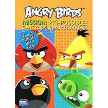 Angry Birds Gigante Para Colorear Y De Actividades Libros (2