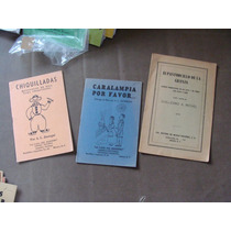 3 Libritos De Pequeñas Obras De Teatro,chiquilladas, Caralim
