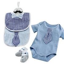 Bebé Aspen Little Man Paquete De Body Con Calcetines Y Littl