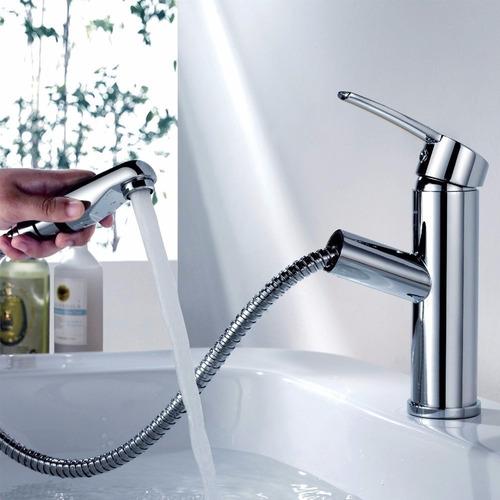Llaves Para Regadera De Baño:Llave Baño Bañera Lavabo Estilo Regadera Extraible Monomando – $