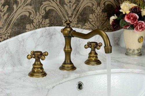 Griferia Baño Antiguo:Llave Grifo Baño Acabado Tipo Antiguo 2 Llaves – $ 1,99700 en
