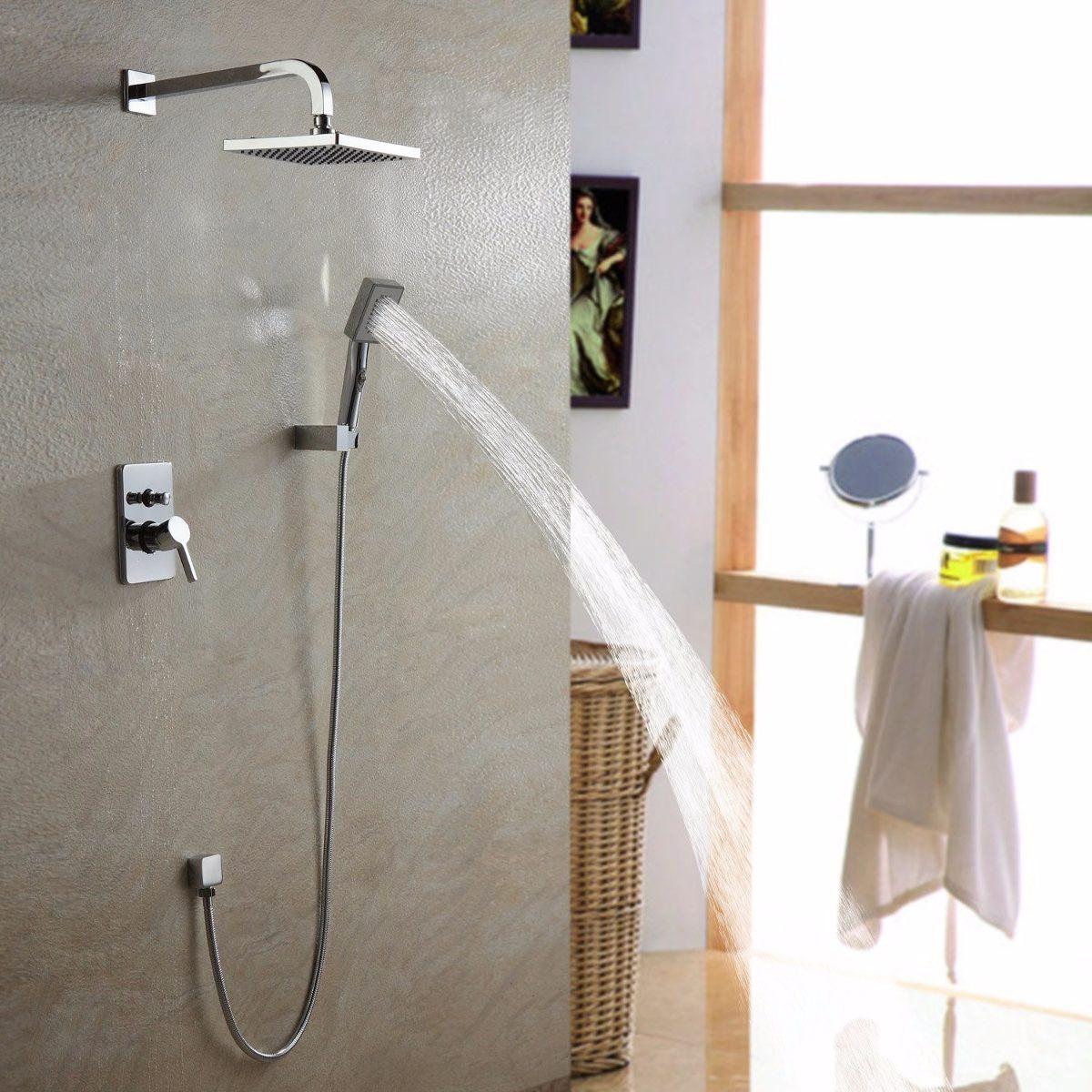 Llave ouku ba o ducha regadera fija y de telefono for Llave de regadera barrida