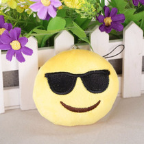 Llavero Emoji Cool Lentes Face Whatsapp Peluche Suave Tejido