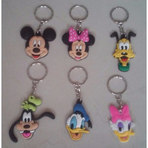 Set Llaveros Mickey Minnie Mouse Pluto Donald Daisy Goofy