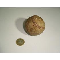 Antigua Pelota Bola De Baseball Beisbol En Piel