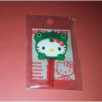 New Hello Kitty Ranita Rana Verde Cubre Llave Sanrio Japon
