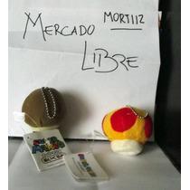 Pack Llavero Goomba + Hongo Amarillo Mario Bros Nintendo