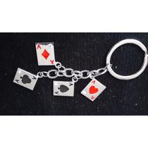 Cartas Naipes Poker Llavero De Dijes Acero Inoxidable 0921
