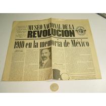 Vintage Publicación Tipo Periódico De La Revolución Museo
