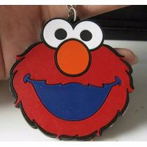 Elmo 2 Vistas Precioso Llavero Ahulado Plaza Sesamo 0864