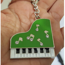 Piano Fino Y Elegante Llavero Metálico De Piano 1224