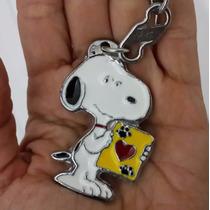 Snoopy Con Carta Amor Precioso Llavero Metalico Snoopy 0974