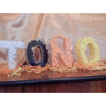 Letras Rellenables En Acrílico Fiestas Cumpleaños¡¡¡¡¡