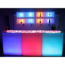 Barra Iluminada Led Rgb Sala Lounge Mesa Bar Restaurante