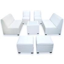 Sala Lounge Minimalista Moderna Sillones Puff Economicas