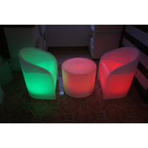 Sala Lounge Iluminada Sillon Led Rgb Periqueras Bar Muebles