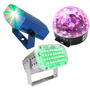Paquete De Luces Leds Audio Rítmicas Efectos Bola Led Laser