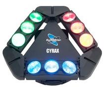 Cyrax Cabeza Móvil Led Triple Tildeo 9x12w Rgbw Sun Star