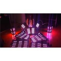 Traje Iluminado Leds Modelo 14 Robot Zancos Led