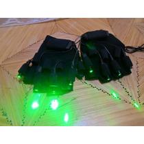 Guante Laser 4 Puntas Color Verde50mw C/u Dj Performance
