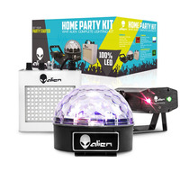Kit Luz Dj Laser Multipuntos Estrobo Esfera Audioritmica Son