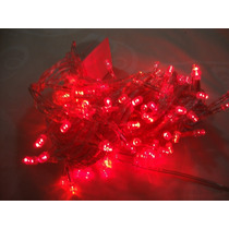 Luces Para Navidad Rojas Extension 10 M Con 100 Luces Led