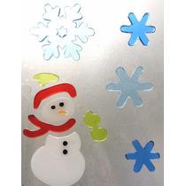 Stickers De Gel En Forma De Muñeco De Nieve Y Copos