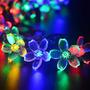 Luces Flores Solares 21ft 50 Led Multi-color Para Decoracion